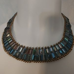Nakamol Gorgeous Blue Iridescent Necklace, NWT